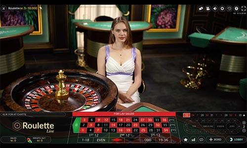 Spil live roulette hos Playojo