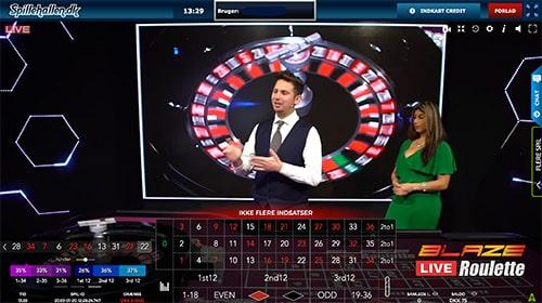 Spil live roulette hos Spillehallen.dk