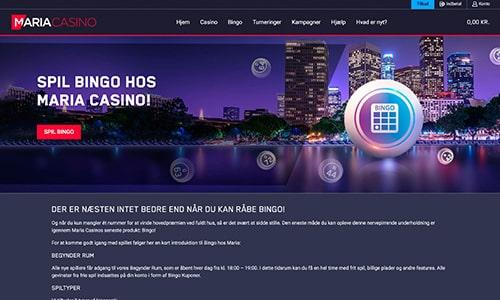 Maria Bingo har en superlækker og moderne hjemmeside