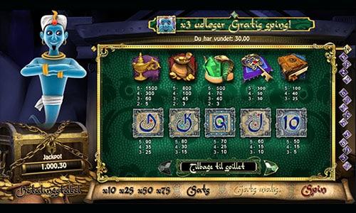 Du kan spille Millionaire Genie hos 888 Casino