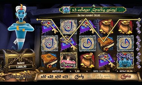 Millionaire Genie jackpotten er langt over 10 mio. kr.