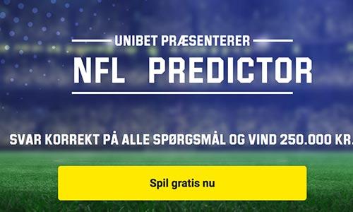 Deltag i NFL Predictor og vind 250.000 kr.