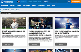 NordicBet er en af markedets bedste, når det drejer sig om kampagner, bonusser og tilbud