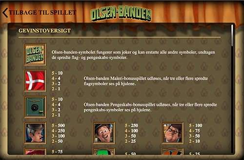Spil online casino med Olsen Banden