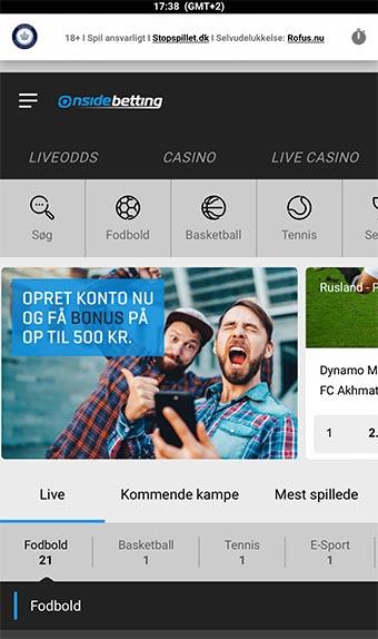 Du kan naturligvis spille hos Onsidebetting på mobilen