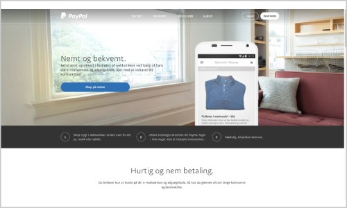 PayPal Danmark tilbyder et fint produkt til danske brugere