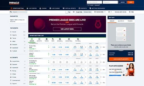 Pinnacle har en ganske ordinær hjemmeside med fokus på brugeroplevelsen