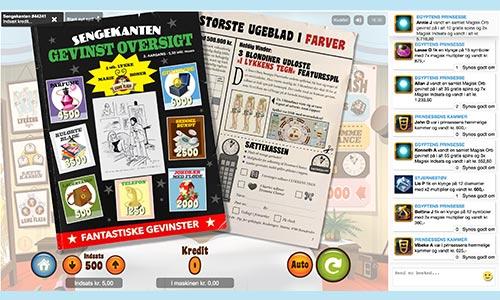 Spil spilleautomat med sengekants-tema