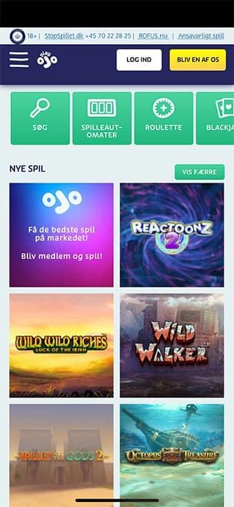 Playojo tilbyder en app til både iOS og Android