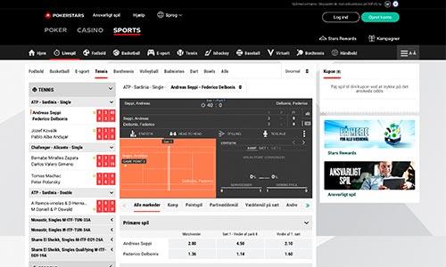 PokerStars Sports Danmark har en fin og brugervenlig hjemmeside