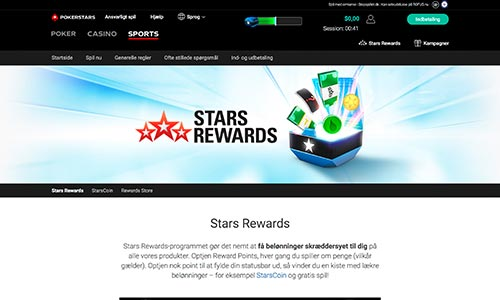 Når du spiller hos PokerStars Sports optjener du point i loyalitetsklubben Stars Rewards