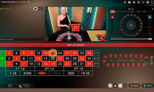 Spil live roulette med danske dealere