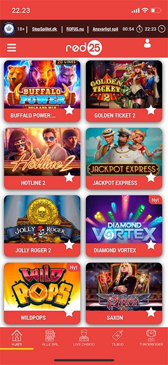 Spil alle de fede spilleautomater på mobilen
