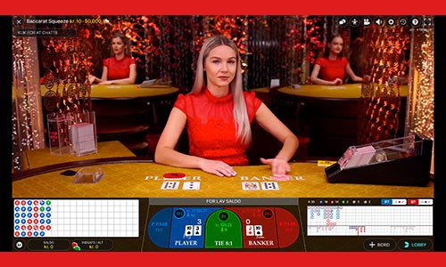 Du kan spille masser af live casino hos Rød25