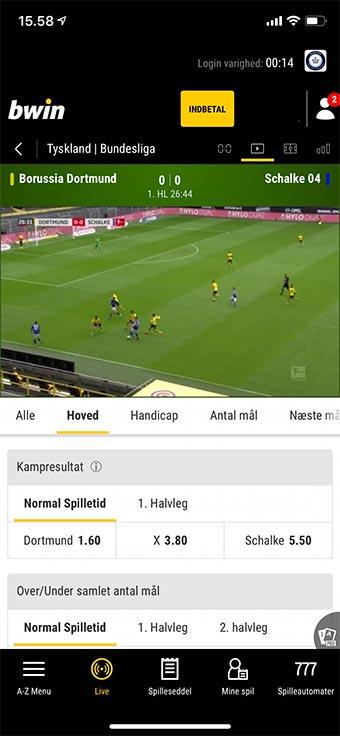 Spil på og se live streaming af Bundesligaen hos Unibet