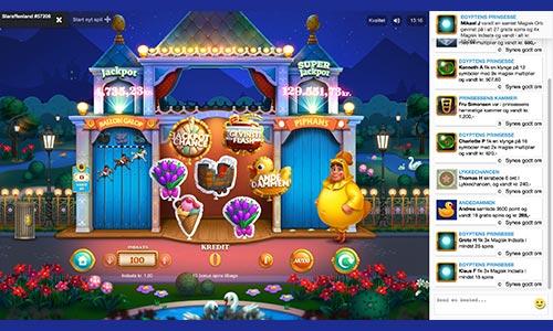 Slaraffenland er en spilleautomat fra Pip.dk