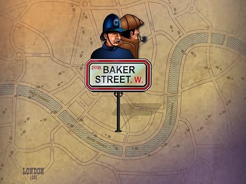 Baker Street er en ganske underholdende spilleautomat som du finder hos Spillehallen.dk