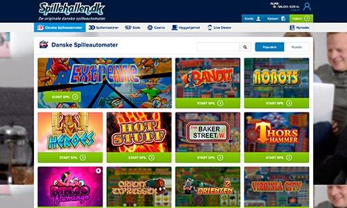 Du finder alle de danske spilleautomater hos Spillehallen.dk