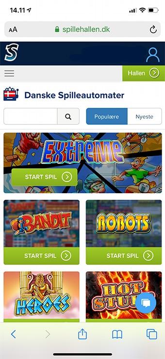 Du kan naturligvis spille alle de danske spilleautomater på mobilen