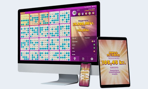 Spilnu Bingo kan spilles på desktop, tablet og mobil