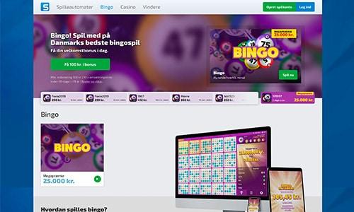 Spilnu Bingo hjemmesiden er nem og enkel