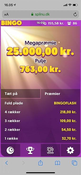 Vind jackpotten på 25.000 kr. på mobilen
