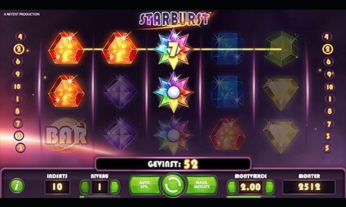 Du kan naturligvis spille verdensberømte Starburst hos 888 Casino