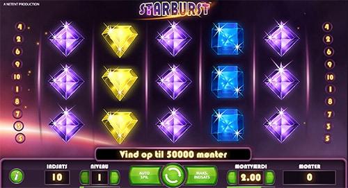 Starburst er formentlig verdens mest populære online spilleautomat