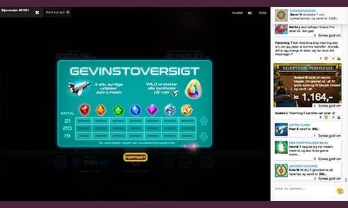 Jagt diamanter og bonusspil i Stjernestøv-spilleautomaten