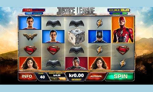 Justice League er en jackpot-spilleautomat med superheltetema