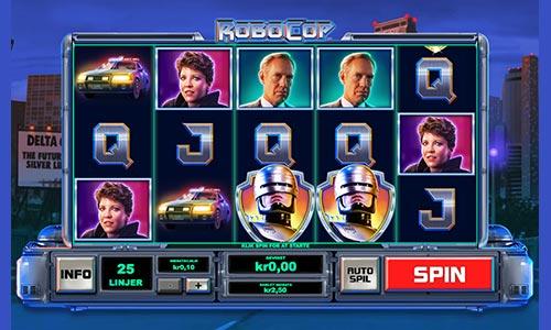 RoboCop er en spilleautomat med superheltetema