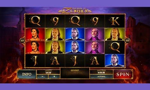 The Mask of Zorro er en spilleautomat med superheltetema