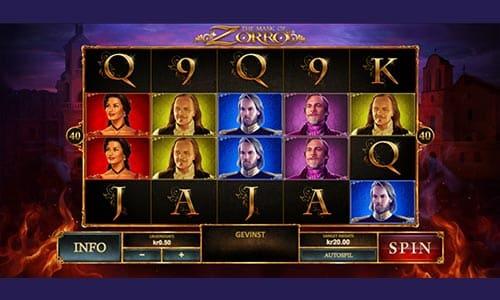 The mask of Zorro er en spilleautomat fra Bet365 Casino