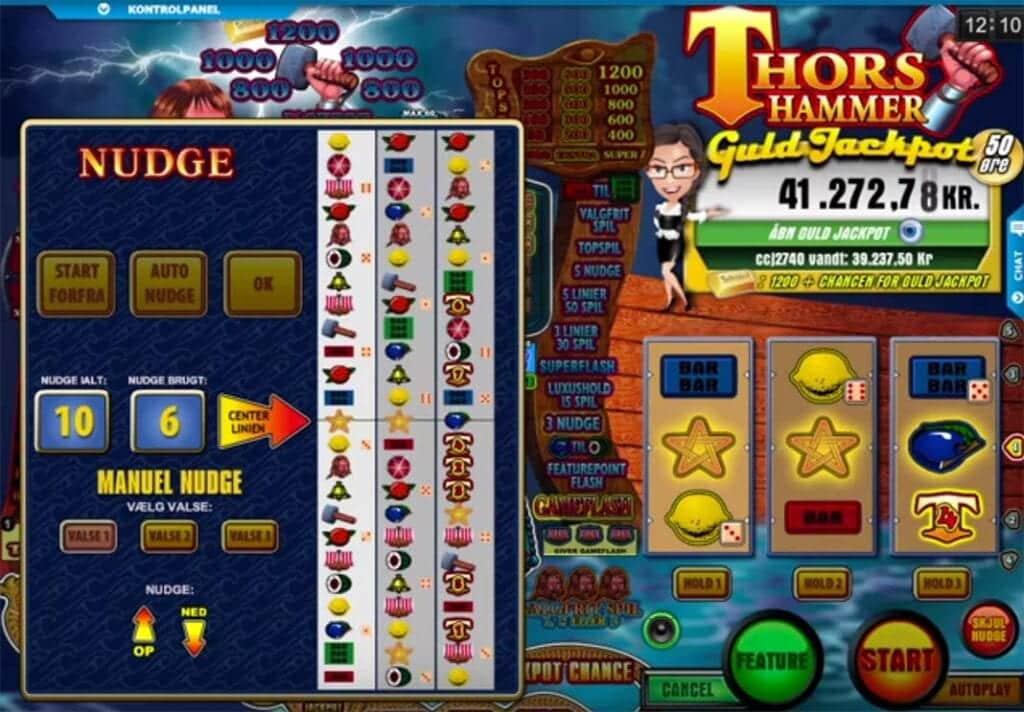 Gennemgang af eksklusive casinospil: Thors Hammer fra Spillehallen.dk er gennemført håndværk