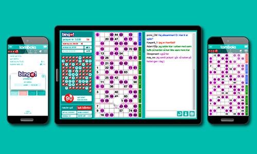 Du kan spille hos Tombola på desktop, tablet og mobil
