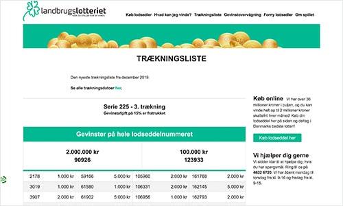 Du kan se trækningslisten på landbrugslotteriet.dk