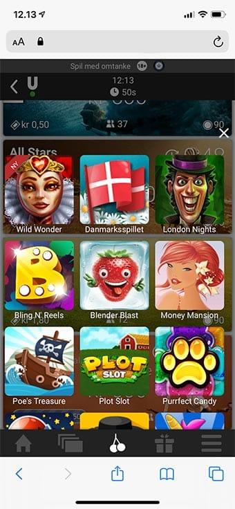 Du kan naturligvis også spille de små minispil på mobilen