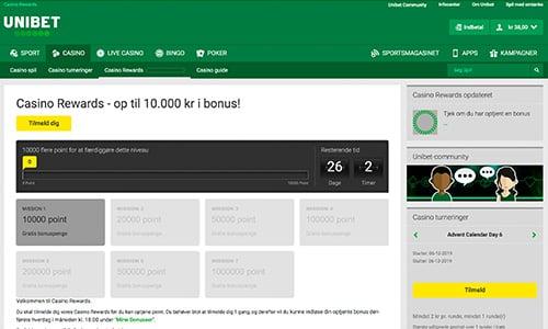 Casino Rewards er Unibets loyalitetsprogram for casinospillere