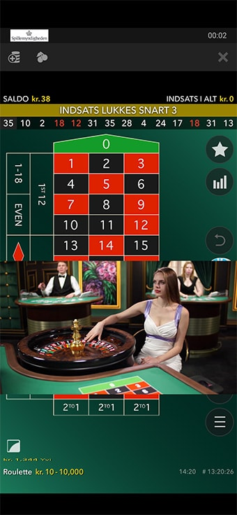 Spiludbyderen har stor fokus på live casino