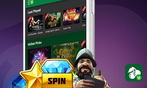 Du kan naturligvis også tilgå Unibet Casino på en smartphone
