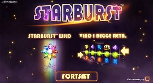 Du kan naturligvis spille Starburst hos Unibet Casino