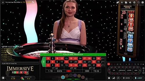 Du finder både danske blackjack- og roulette-borde