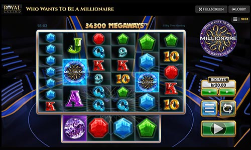 Who wants to be a millionaire spilleautomat hos Royal Casino